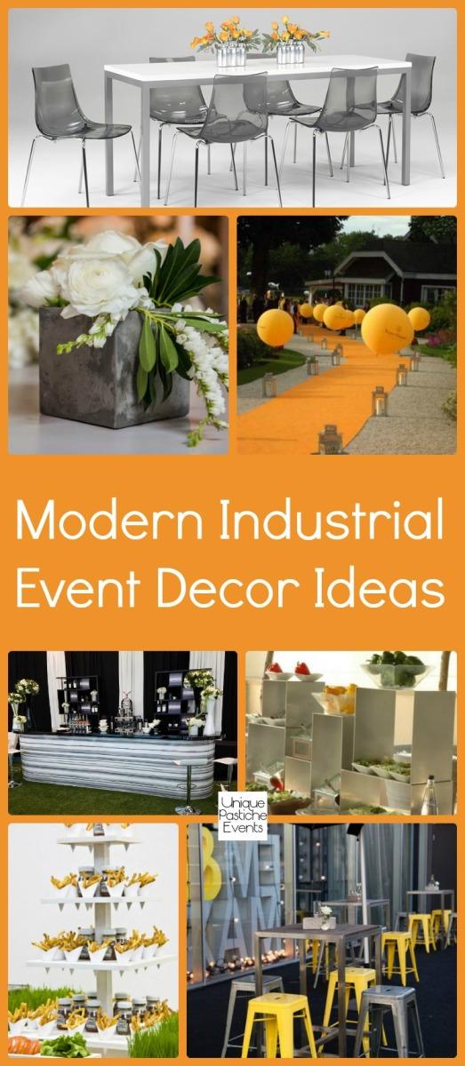 Modern Industrial Event Decor