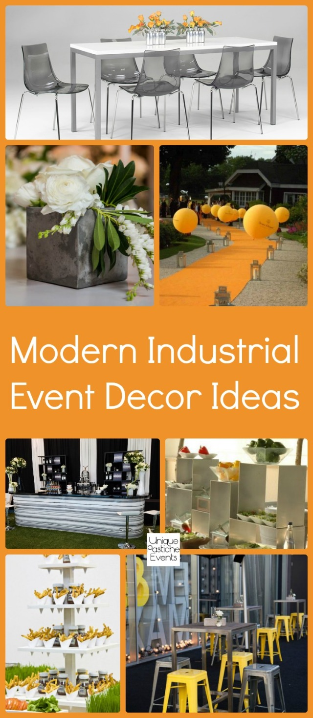 Modern Industrial Event Decor