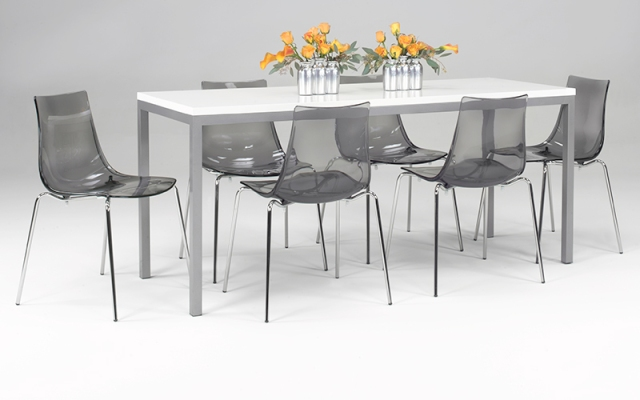 Smoke Grey Vienna Café Chairs and Modern Table Set – available through AFR Event Furnishings