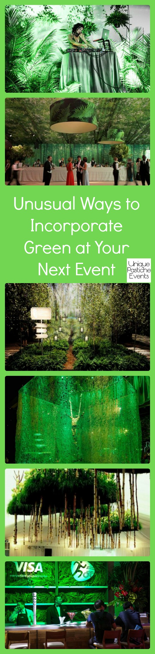 Unusual Ways to Incorporate Green at Your Next Event