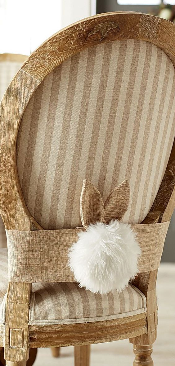Burlap Bunny Chair Decor – spotted on Pinterest