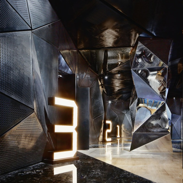 Dark Geodesic and Mirror Grand Entrance – shared in a roundup post on Contemporist