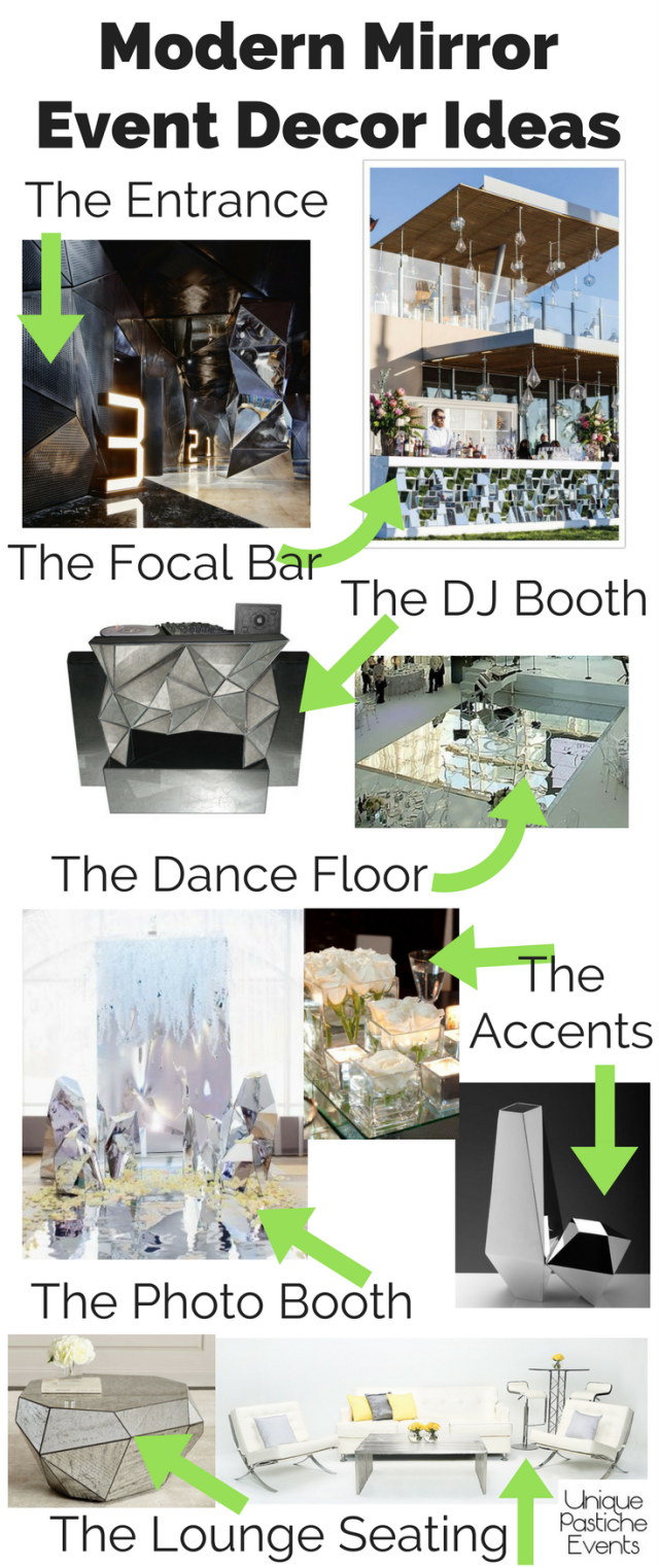 Modern Mirror Event Decor Ideas