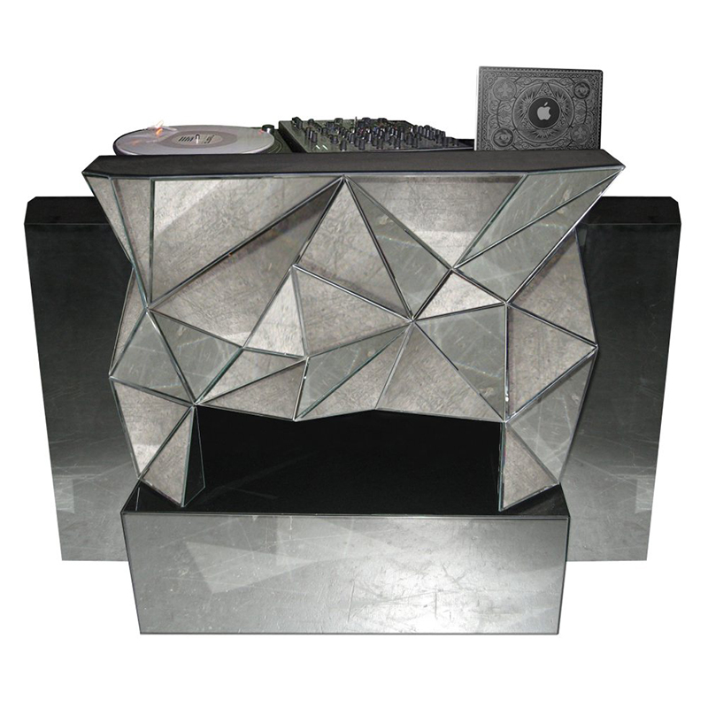 Multi Mirror DJ Booth – available through Revelry Event Designers
