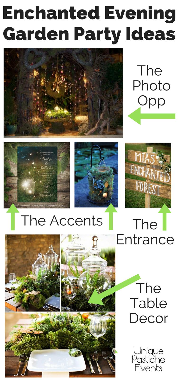Enchanted Evening Garden Party Ideas Unique Pastiche Events