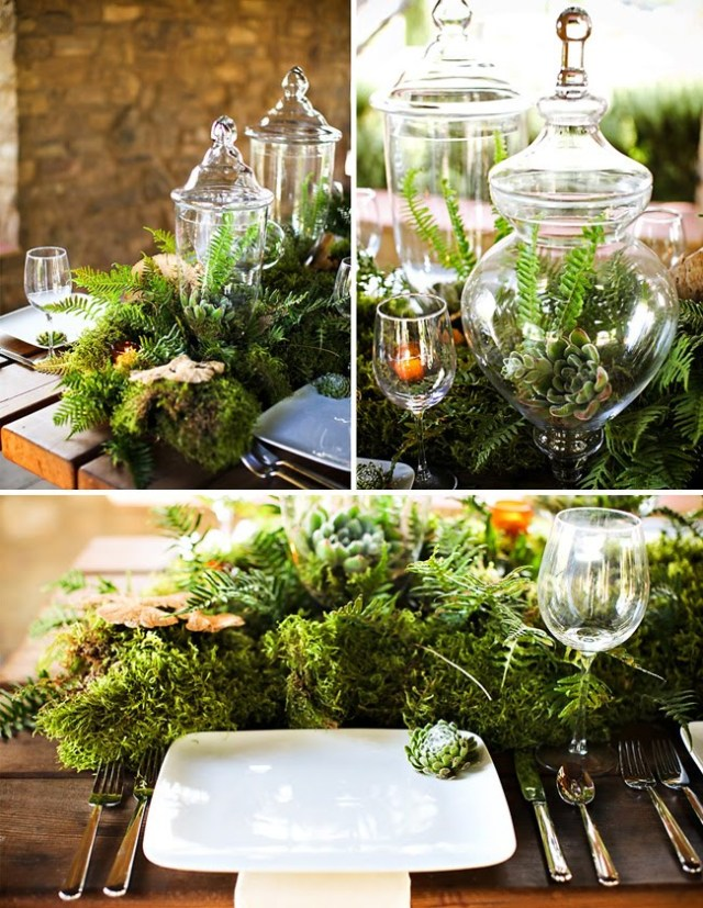 Forest Inspired Tablescape – shared by Green Wedding Shoes