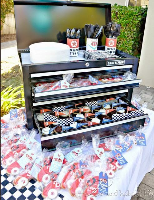 Mechanics Toolbox Party Favors Station