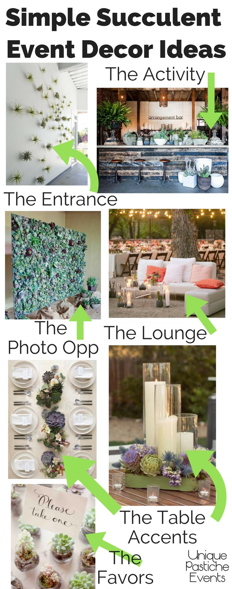 Simple Succulent Event Decor Ideas