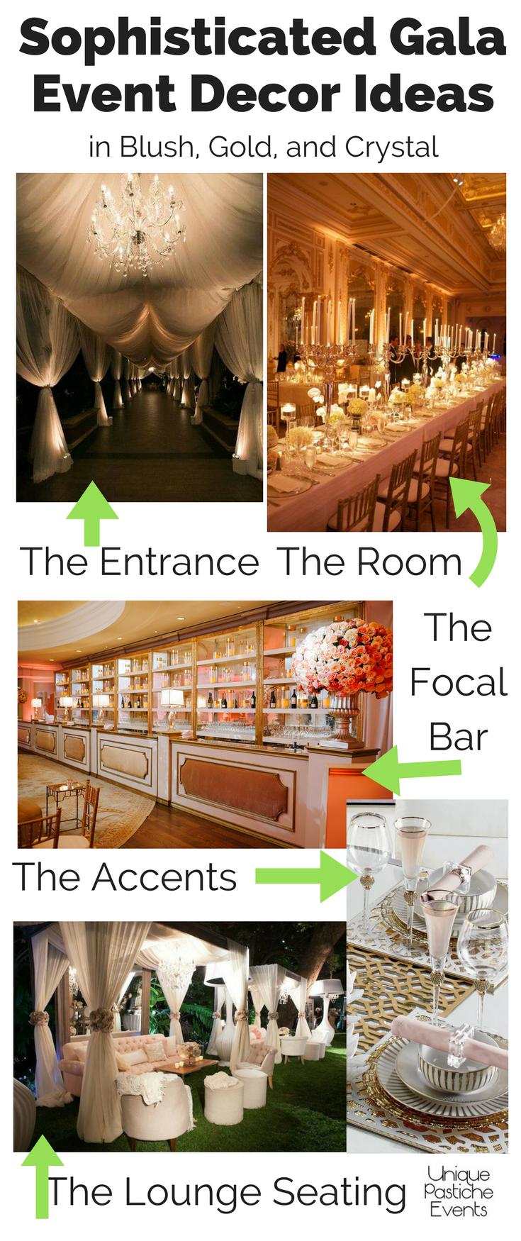 sophisticated gala event decor ideas by unique pastiche events
