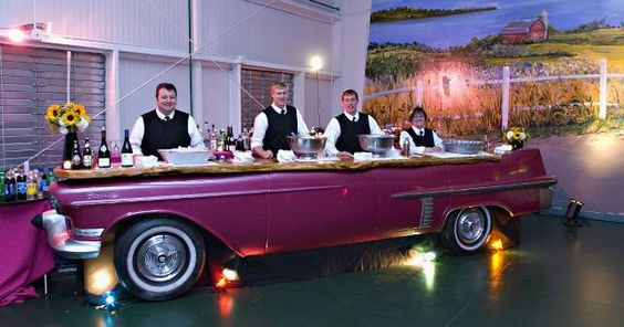 50s Car Food Display and Buffet