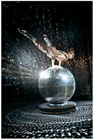 Disco Ball Hand Balancer Event Entertainment Show – featured on MishMash Management
