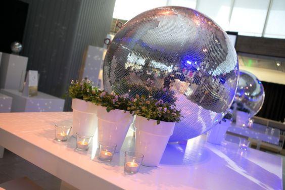 Charming Disco Ball Table Top Event Decor