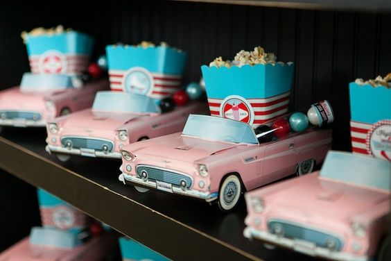 Vintage Car Favor Boxes – featured on Kara_s Party Ideas