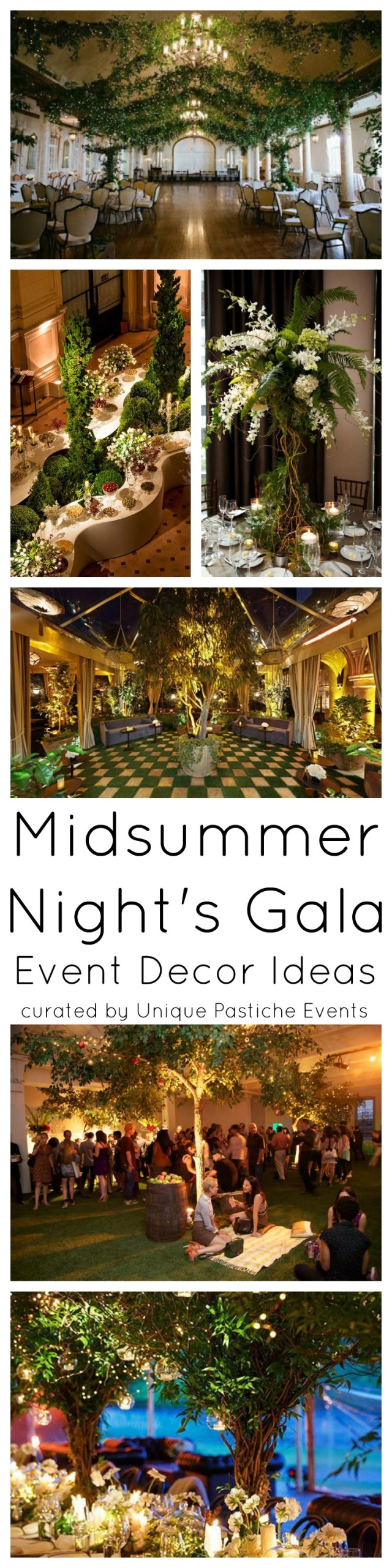 Midsummer Night's Gala Event Decor Ideas