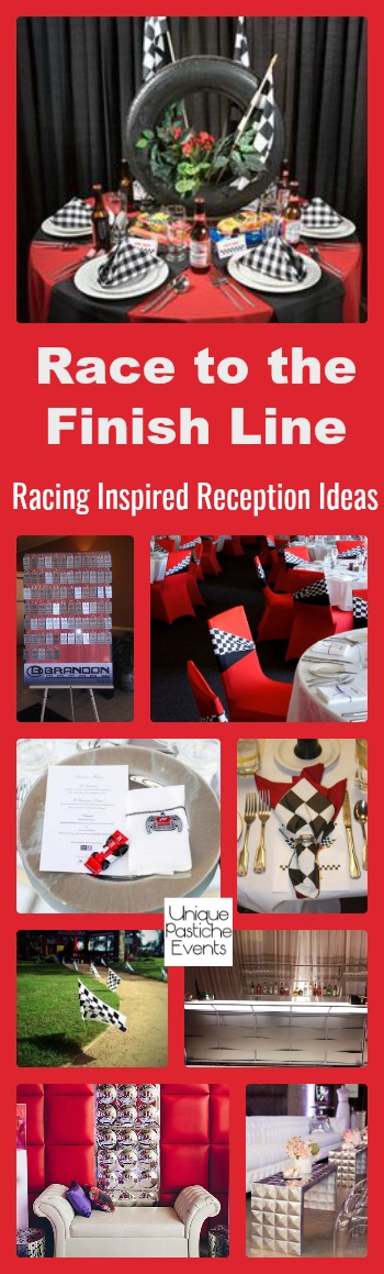 Race to the Finish Line – Racing Inspired Reception Ideas
