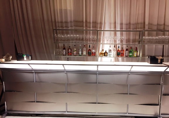 Tribeca Silver Industrial Metal Bar – available through Palace Party Rent