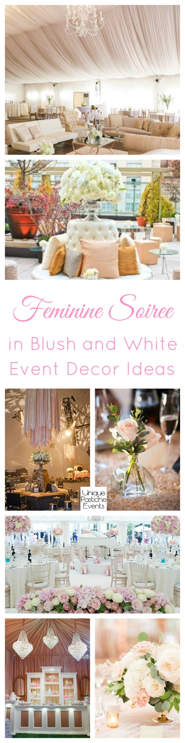 Feminine Soiree in Blush and White - Event Decor Ideas
